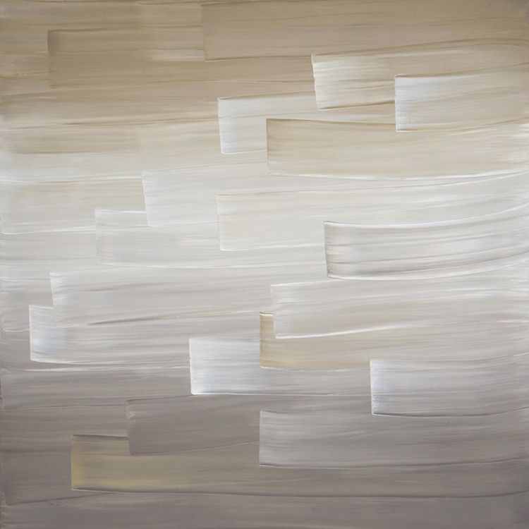Ulrike Stubenboeck, INDIGO SERIES #10, 140 x 140 cm, oil on canvas, 2009.