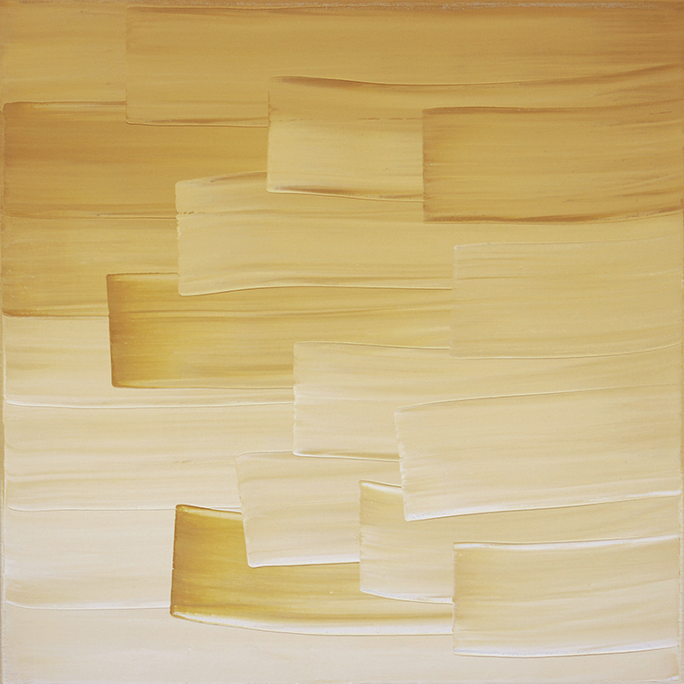 Ulrike Stubenboeck, LIBRARY SERIES #11, 60 x 60 cm, oil on canvas, 2007.