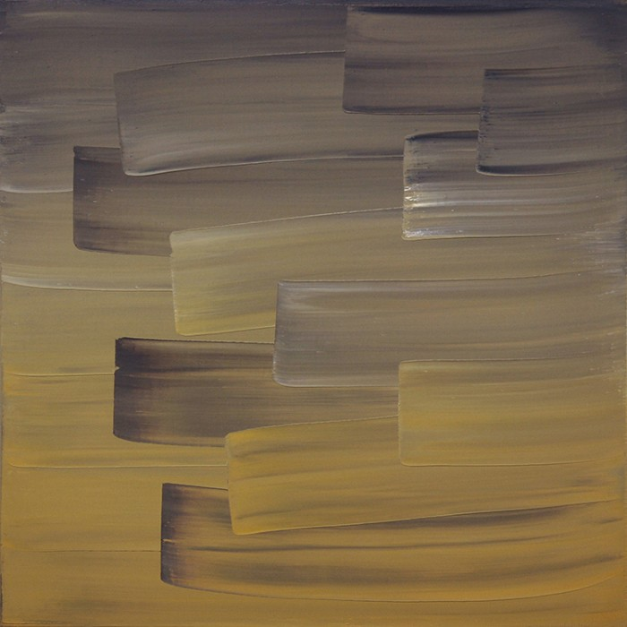 Ulrike Stubenboeck, LIBRARY SERIES #13, 60 x 60 cm, oil on canvas, 2007.