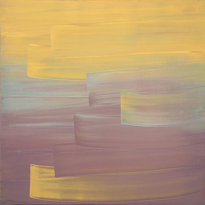 Ulrike Stubenboeck, LIBRARY SERIES #18, 60 x 60 cm, oil on canvas, 2007.